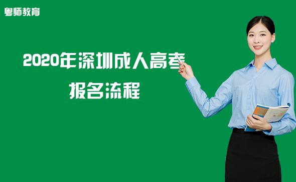 2020年深圳成人高考报名流程―报名到入学!